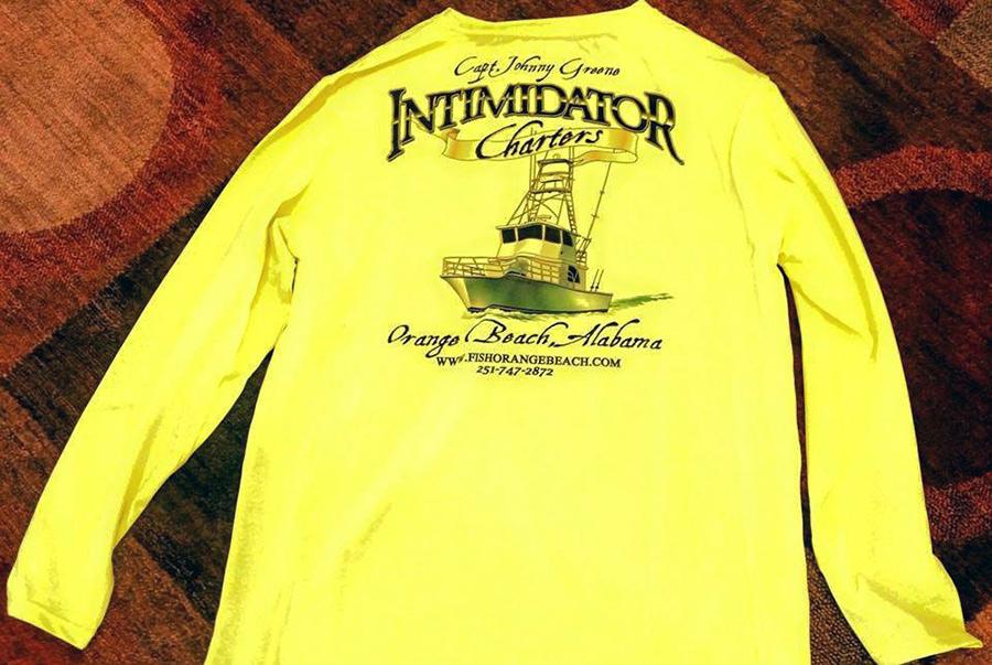 Intimidator sportfishing t 39 shirt for Long beach deep sea fishing