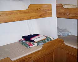 This is one of four bunkrooms.  All of the bunks are at least 36 inches wide and 84 inches long with well-built face boards to keep you in the bunk.