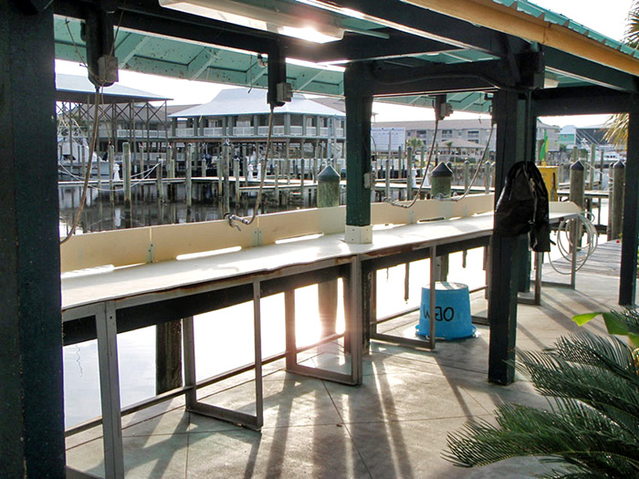 Directions and information for Dock fish cleaning station