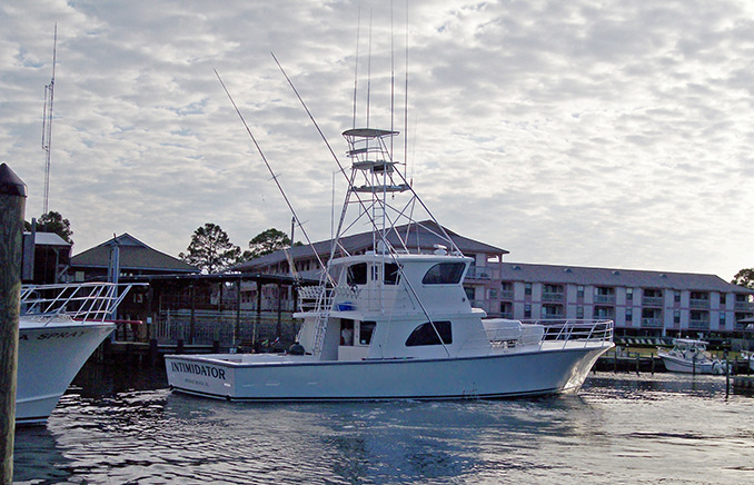 The 'Intimidator' is a 65 x 19 ft Sportfisherman